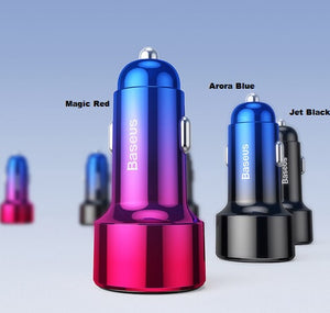 USB Car Charger With Digital Display
