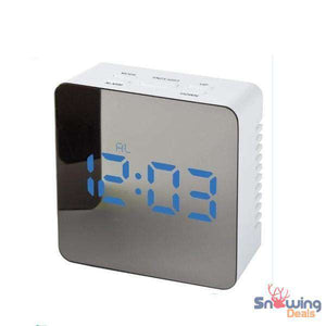 Wake Up Alarm Clock - Mirror LED Light - Snowing Deals