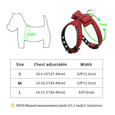 Bowknot Dog Harness