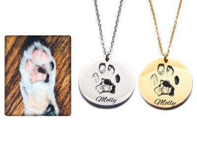 Real Paw Print Necklace