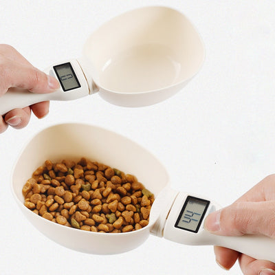 Measuring Scoop Cup With Led Display For Dog Cat Feeding