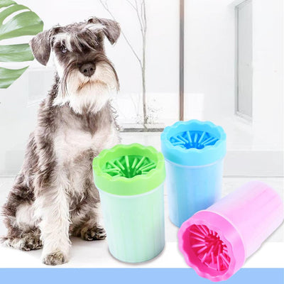 Dog Foot Cleaner Soft Silicone Pet Paw Washing Cup Portable