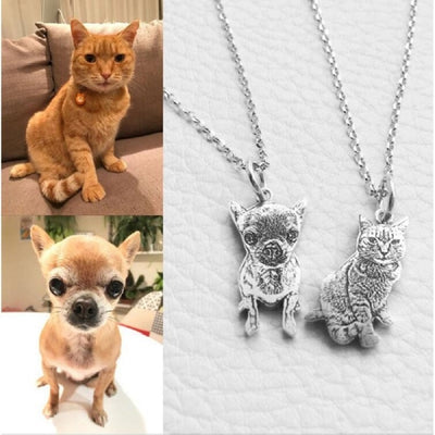 Pet Custom Necklace Personalized Jewelry Memorial Gift