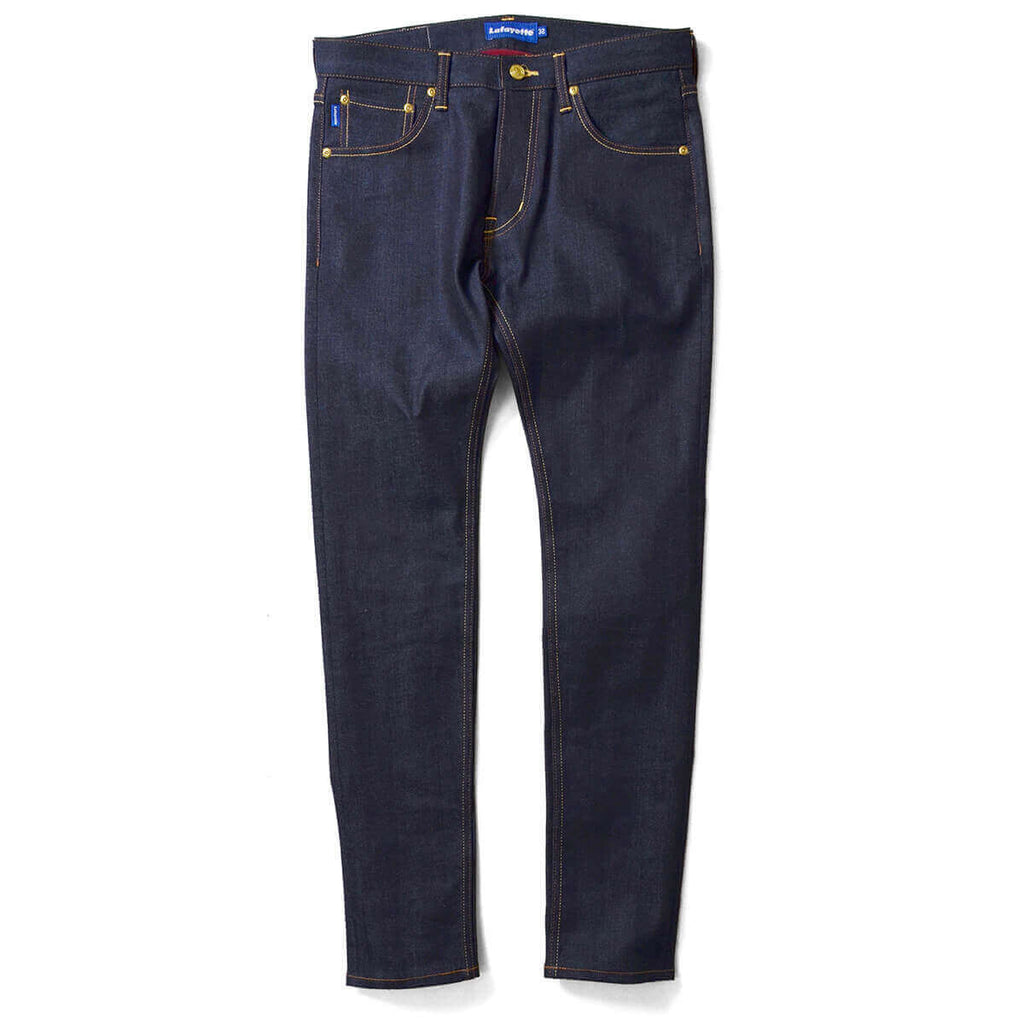 Lafayette 5 POCKET SELVAGE STRETCH DENIM PANTS SLIM FIT LS201103 INDIGO BLUE