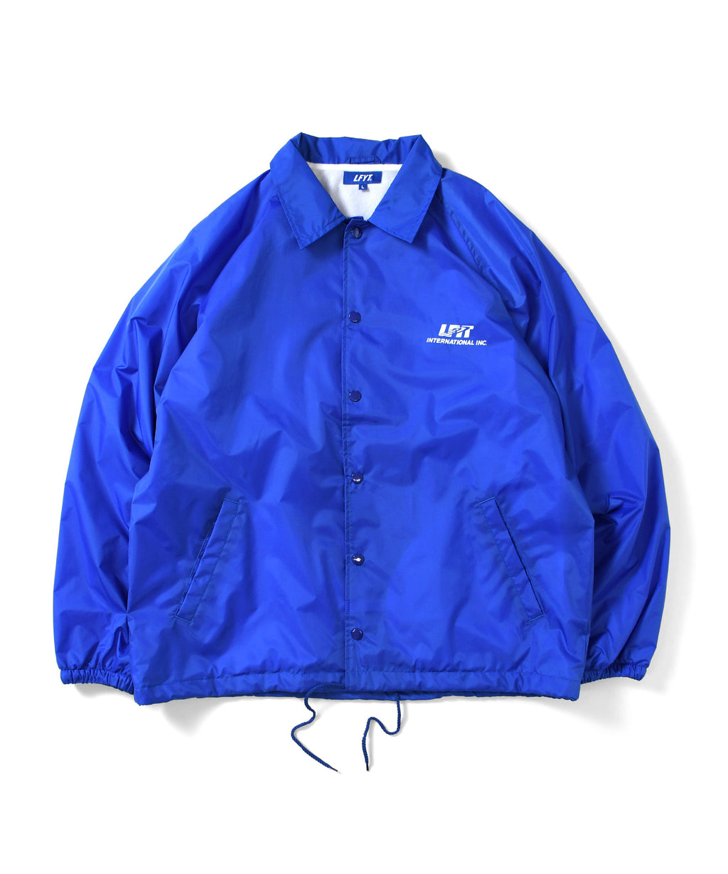 LA201001 LFYT INTERNATIONAL, INC. RAGLAN NYLON COACH JACKET BLUE