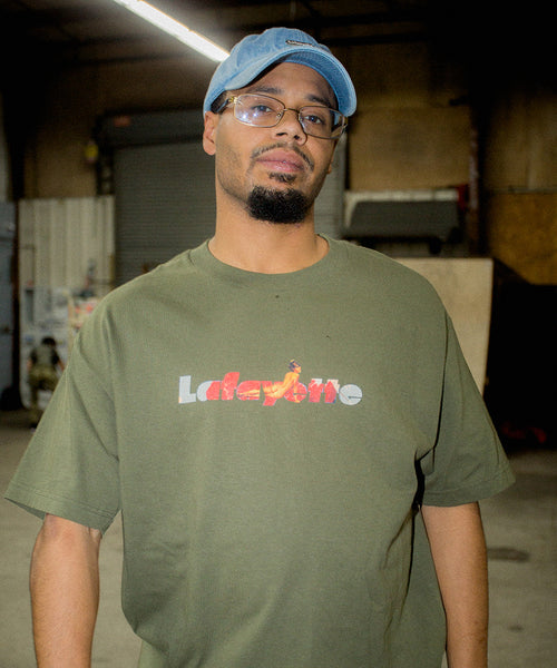 Lafayette × KILLIMAN JAH LOW WORKS MIND POWER LOGO TEE LS200115 OLIVE