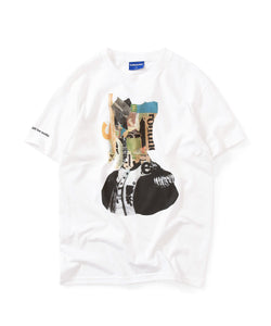 Lafayette × KILLIMAN JAH LOW WORKS BEHIND THE MASK TEE LS200117 WHITE