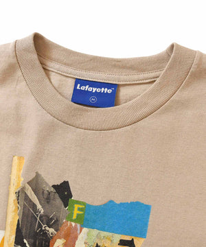 Lafayette × KILLIMAN JAH LOW WORKS Lafayette BEHIND THE MASK TEE LS200117 BEIGE