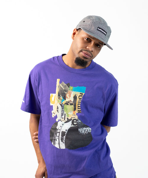 Lafayette × KILLIMAN JAH LOW WORKS BEHIND THE MASK TEE LS200117 PURPLE