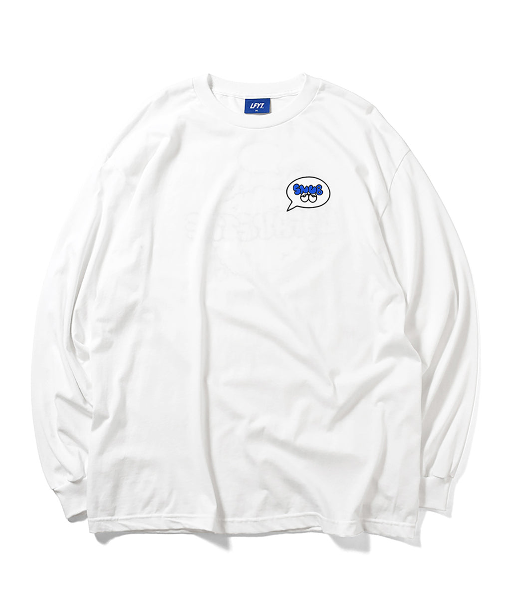 LFYT x Rabuns - THROW UP L/S TEE WHITE LA200103