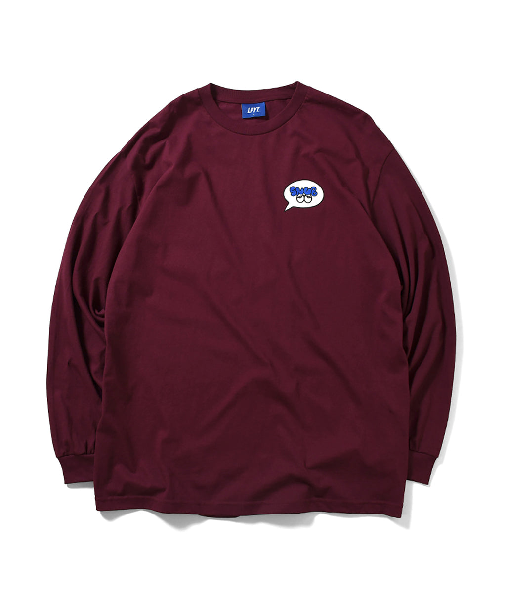 LFYT x Rabuns - THROW UP L/S TEE BURGUNDY LA200103