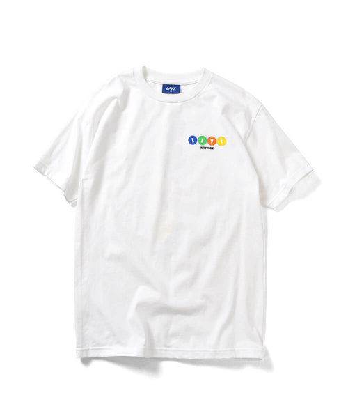 TIMES SQUARE CHOCOLATE BANNER TEE WHITE LA200114