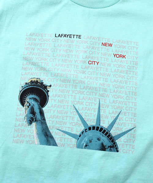 LIBERTY OF NY TEE LIGHT GREEN LA200121