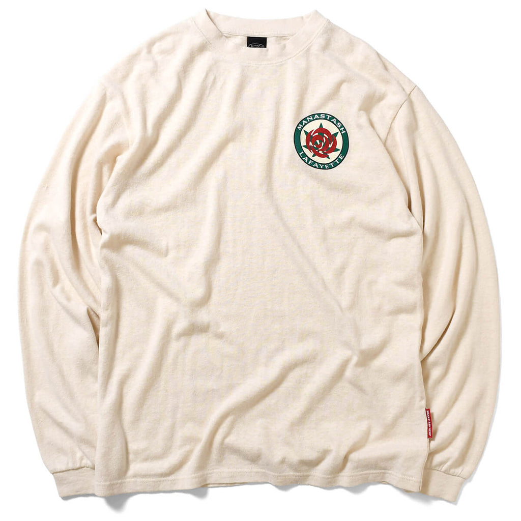 MANASTASH x LFYT HEMP ROSE L/S TEE NATURAL LE200116