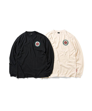 MANASTASH x LFYT HEMP ROSE L/S TEE BLACK LE200116