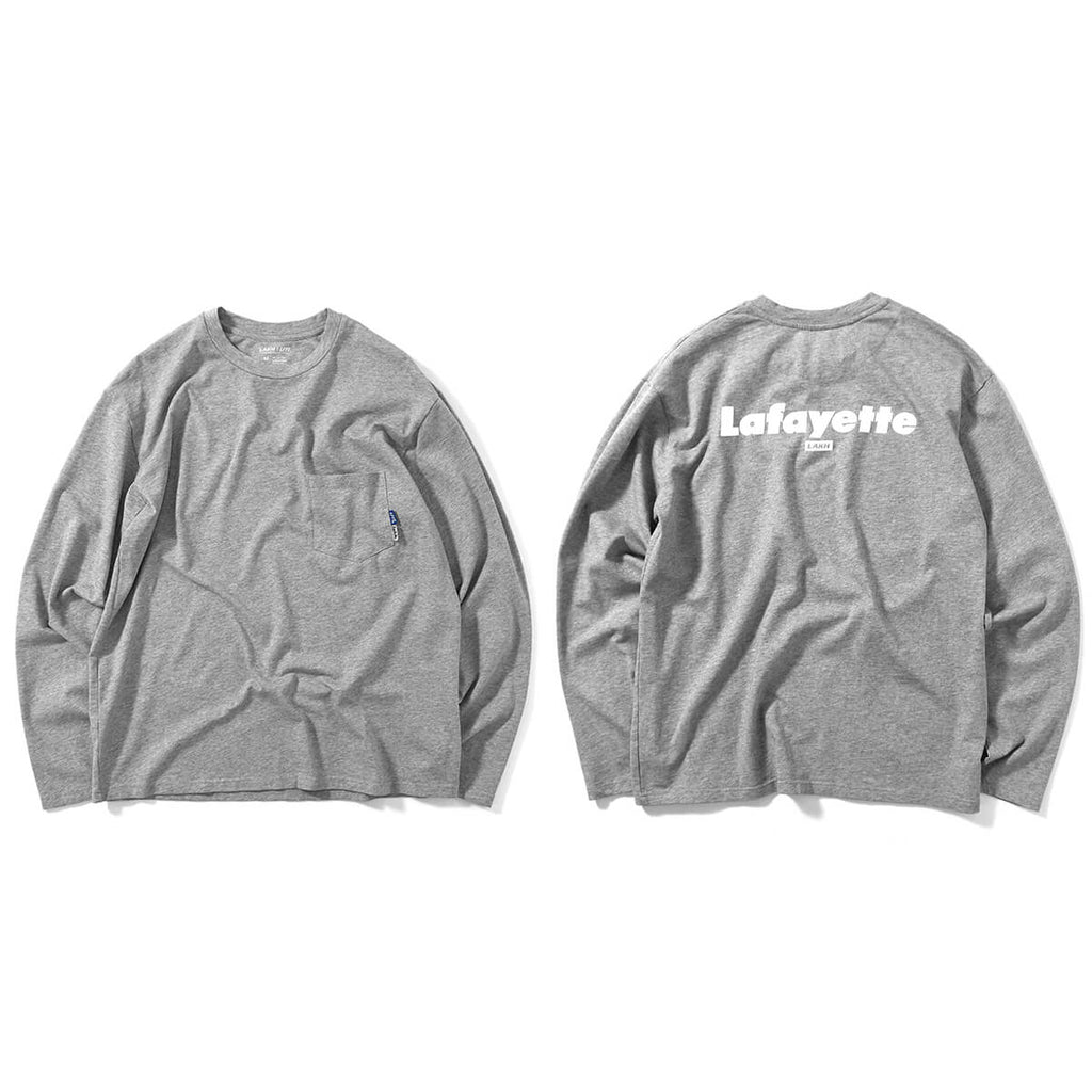 LFYT X LAKH POCKET L/S TEE HEATHER LE200117 GRAY