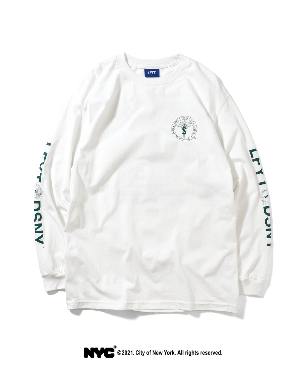 LFYT X DSNY COMMUNITY SERVICES L/S TEE LS210102 WHITE
