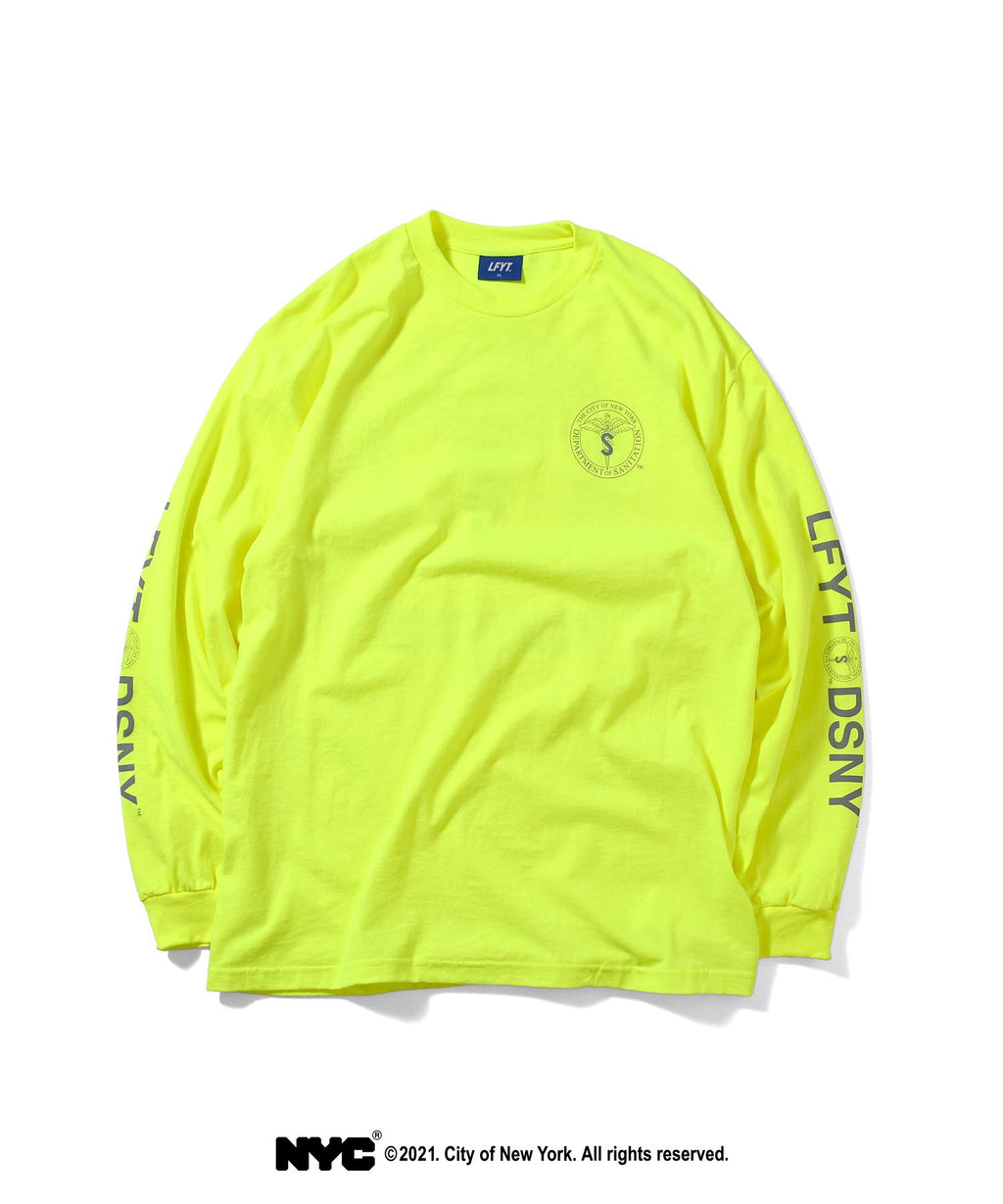 LFYT X DSNY COMMUNITY SERVICES L/S TEE LS210102 SAFETY GREEN