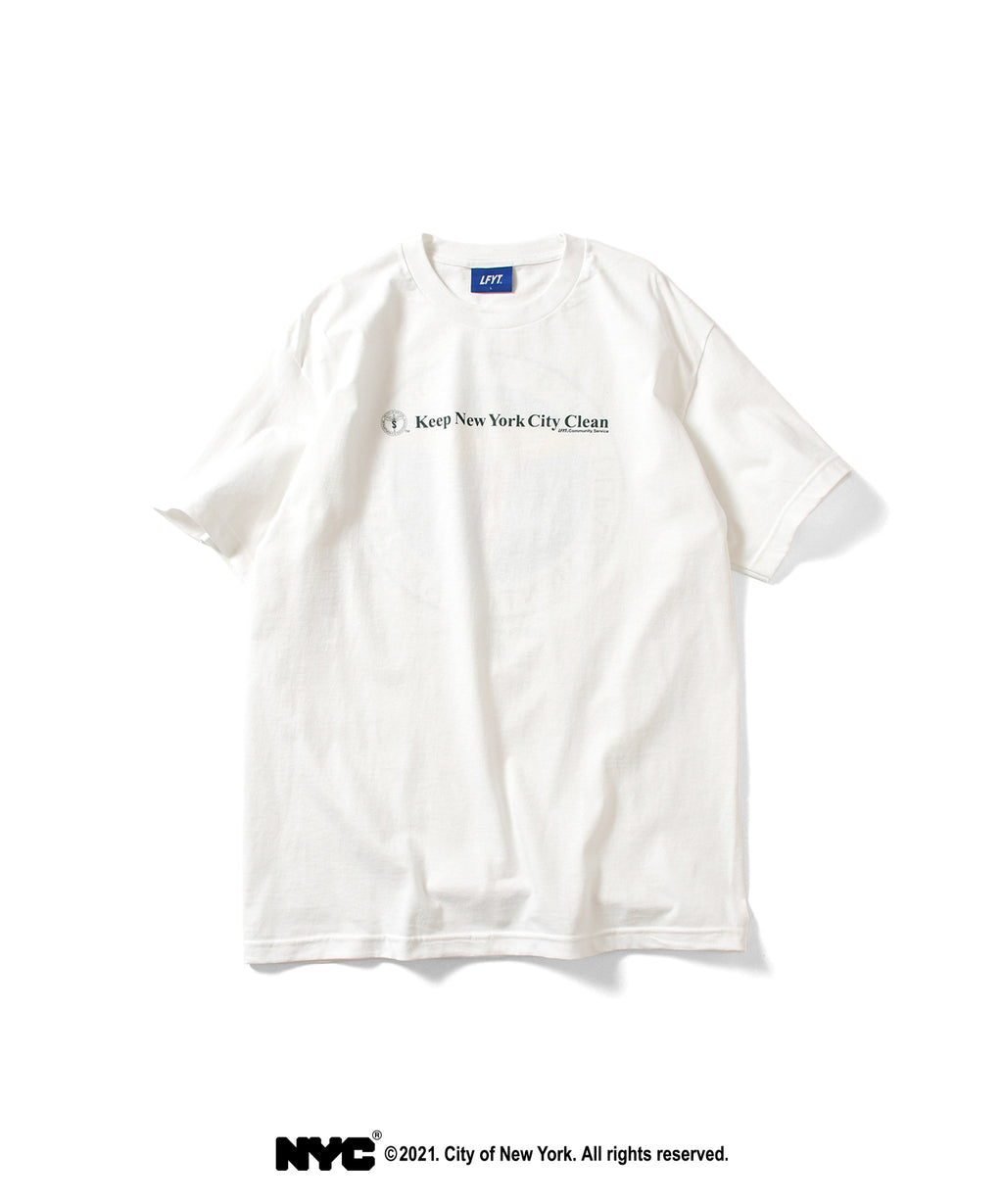 LFYT X DSNY COMMUNITY SERVICES TEE LS210103 WHITE