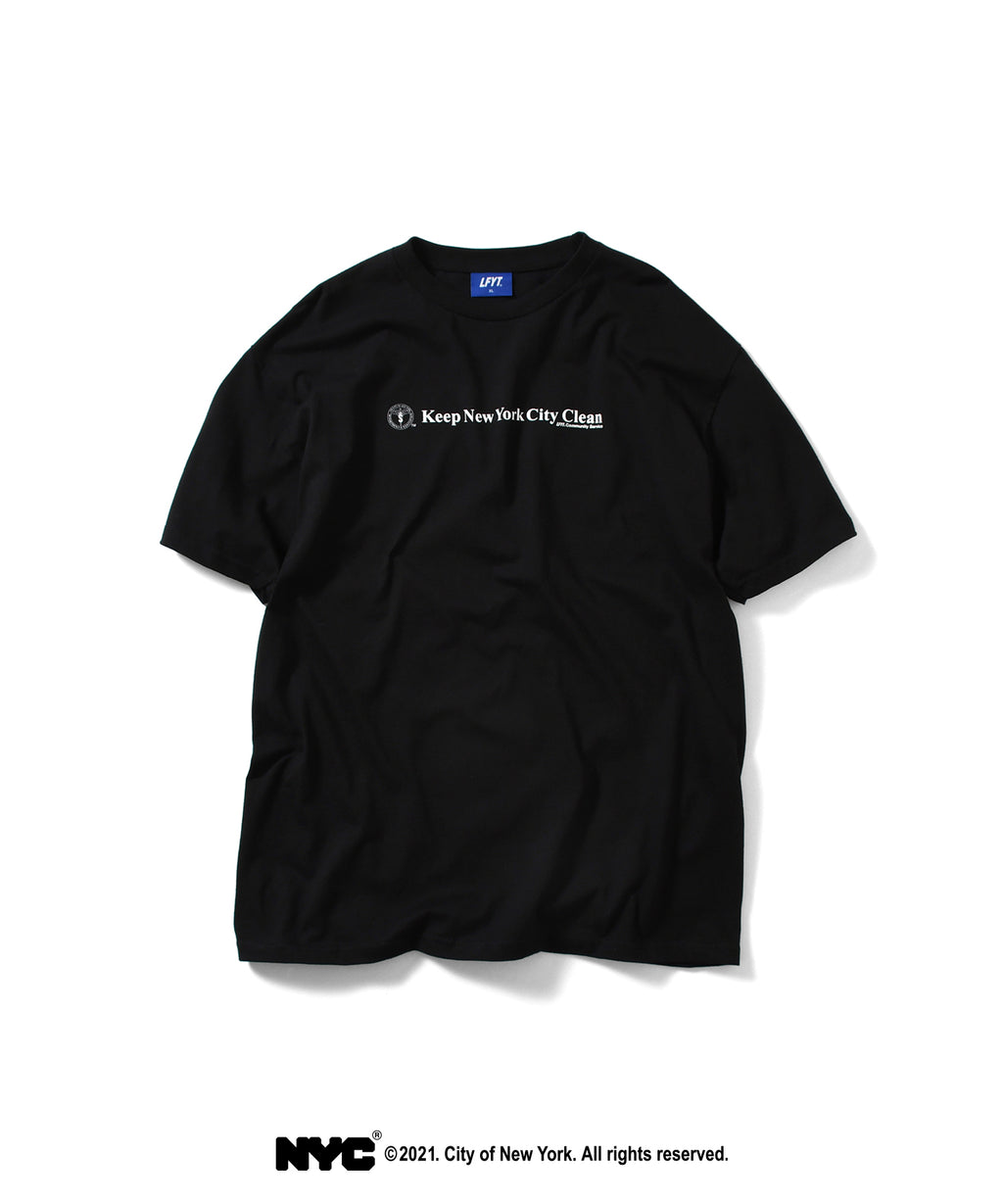 LFYT X DSNY COMMUNITY SERVICES TEE LS210103 BLACK