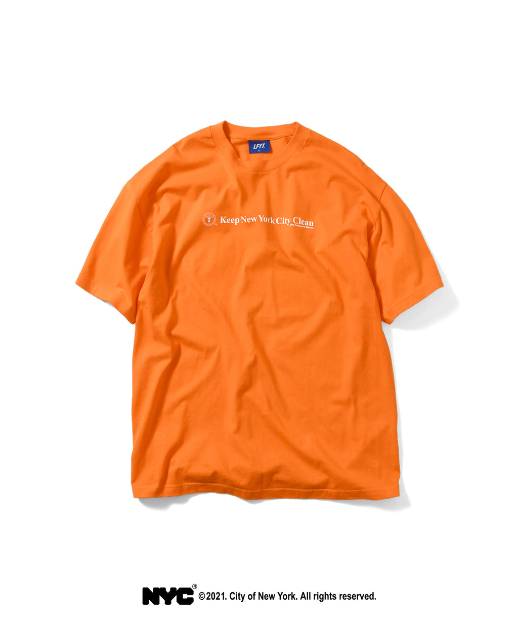 LFYT X DSNY COMMUNITY SERVICES TEE LS210103 ORANGE