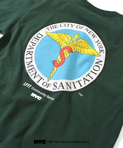 LFYT X DSNY COMMUNITY SERVICES TEE LS210103 GREEN
