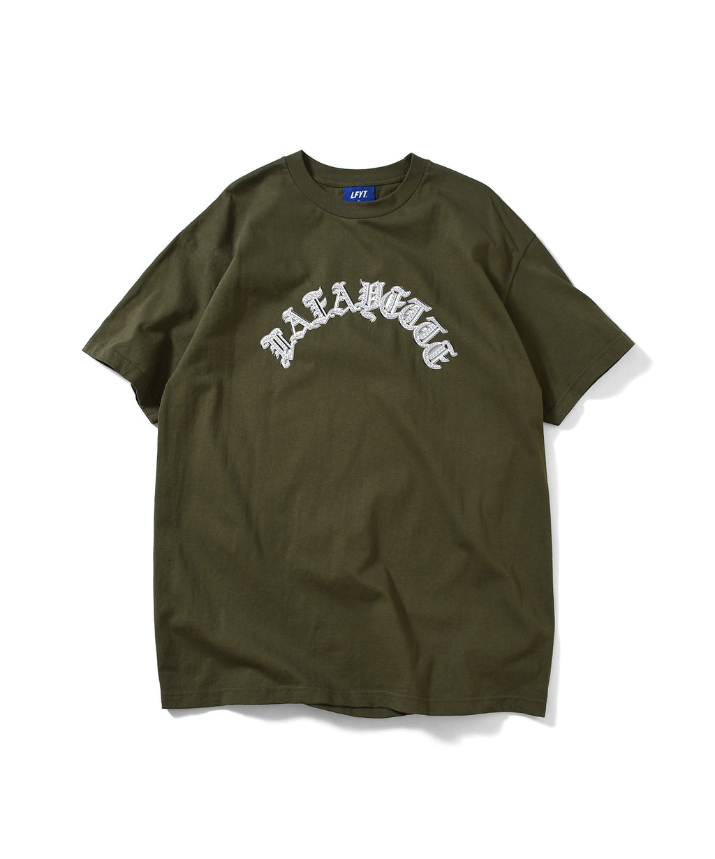 BLING LAFAYETTE ARCH LOGO TEE MILITARY LS210105 GREEN