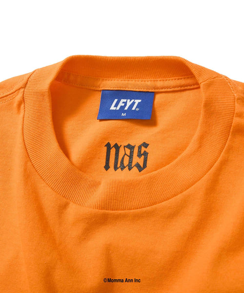 LFYT X NAS WORLD IS YOURS L/S TEE LS210106  ORANGE