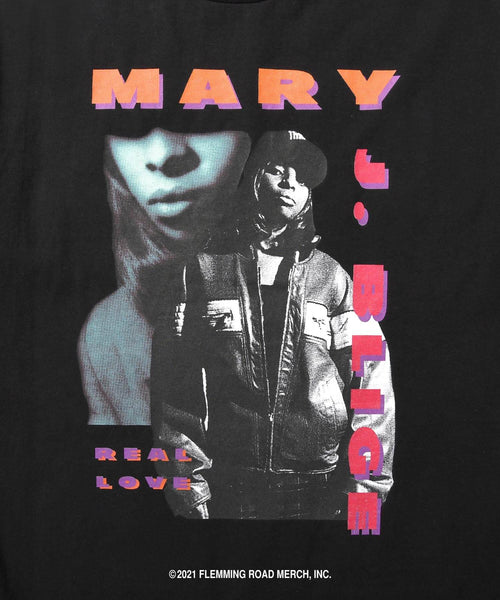 LFYT X MARY J.BLIGE REAL LOVE TEE LS210107 BLACK