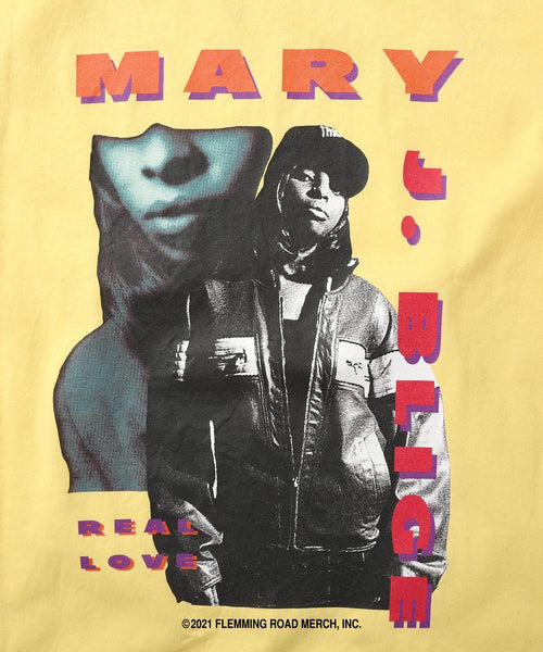 LFYT X MARY J.BLIGE REAL LOVE TEE LS210107 YELLOW