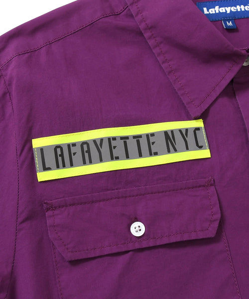 Lafayette HIGH-VIS BOX LOGO S/S WORK SHIRT LS200205 PURPLE