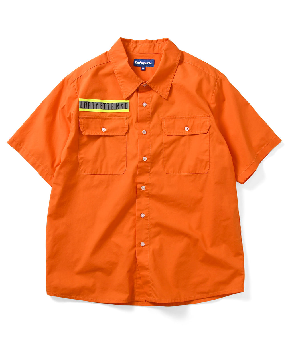 Lafayette HIGH-VIS BOX LOGO S/S WORK SHIRT LS200205 ORANGE
