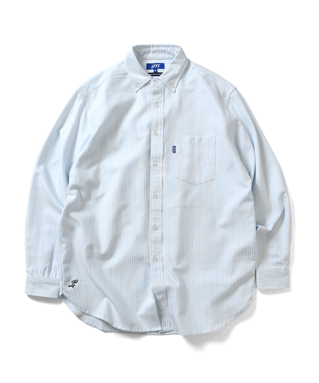 BIG SILHOUETTE STRIPED OXFORD SHIRT BLUE LA200201