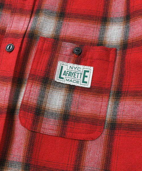 WORKES OMBRE FLANNEL SHIRT RED LA200202