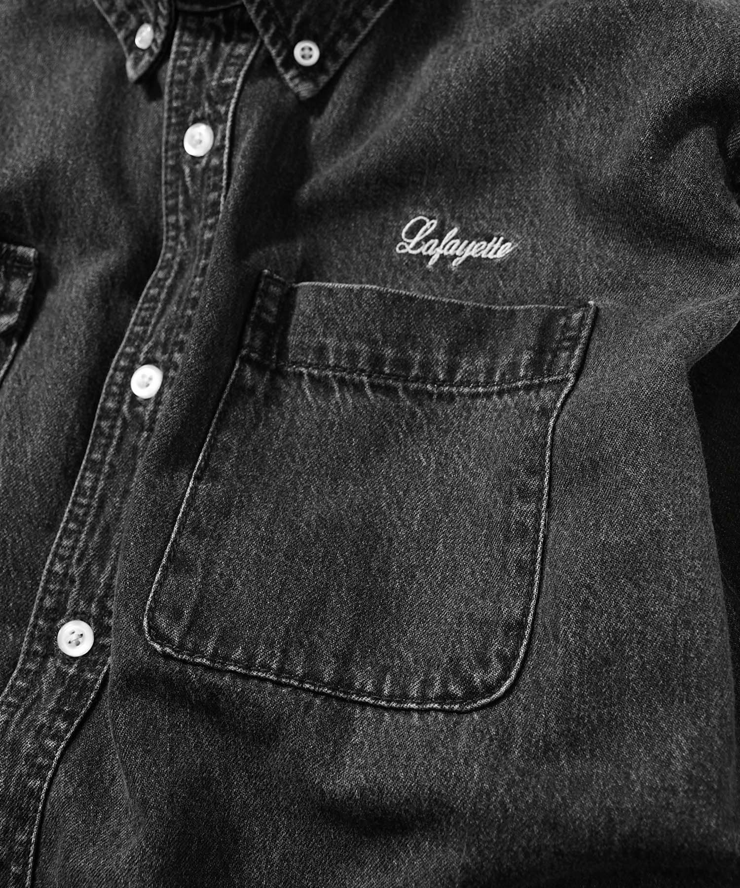 WASHED DENIM B.D. SHIRT BLACK LA200204