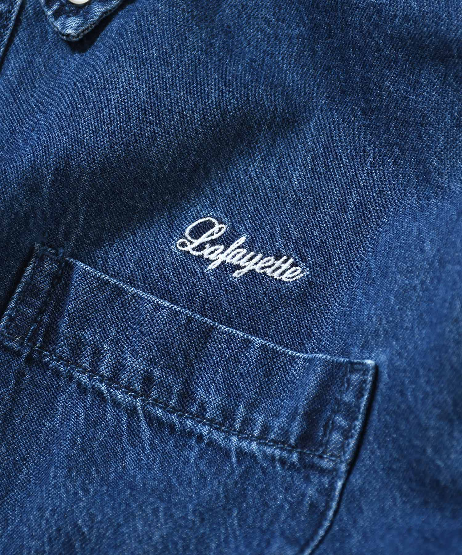 WASHED DENIM B.D. SHIRT BLUE LA200204