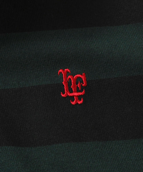 Lafayette LF LOGO STRIPED RUGBY SHIRT LS200301 GREEN