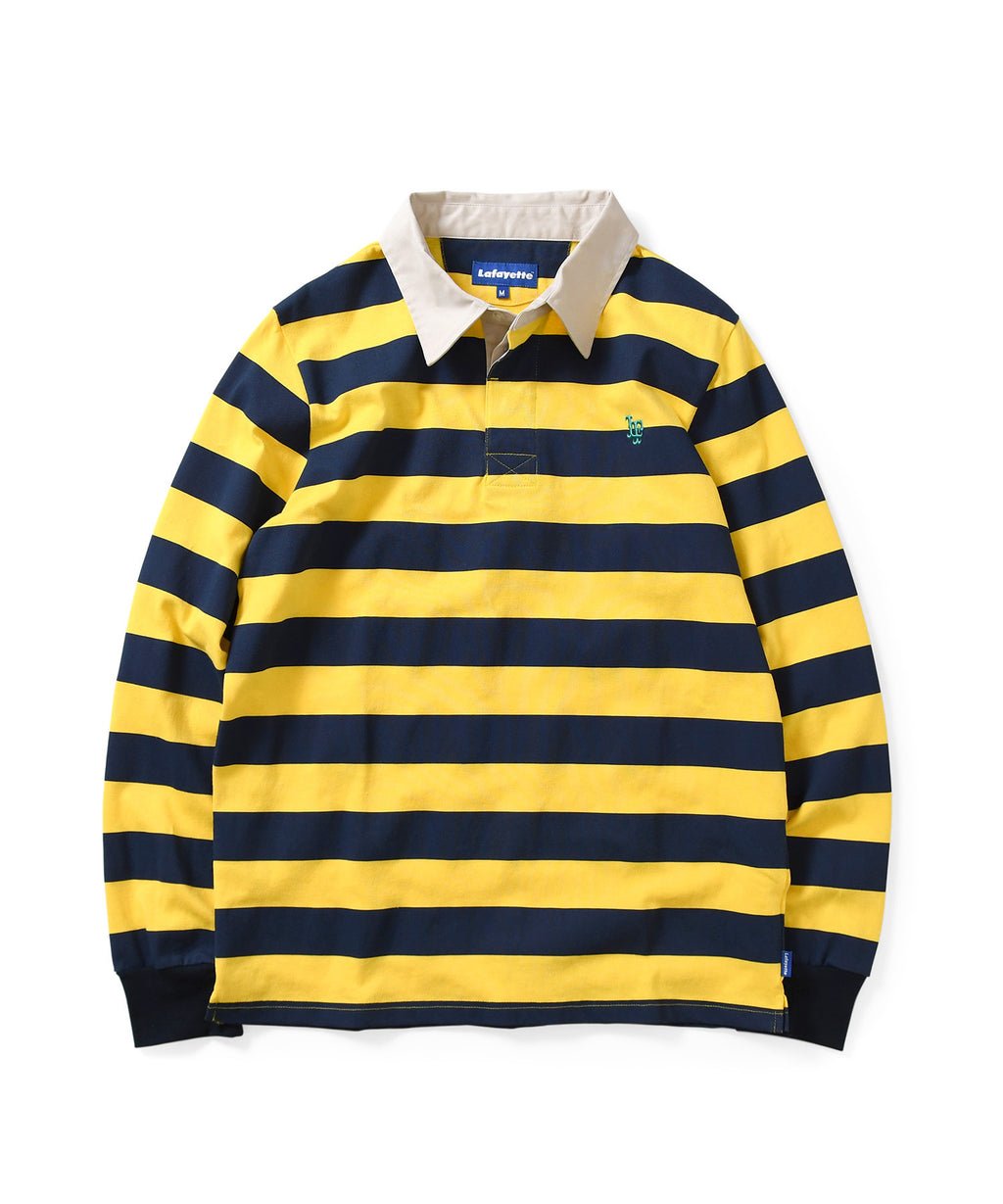 Lafayette LF LOGO STRIPED RUGBY SHIRT LS200301 YELLOW