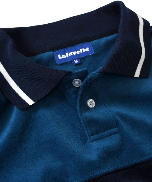 Lafayette TRADITIONAL SPORTS LOGO PILE POLO SHIRT LS200302 ROYAL