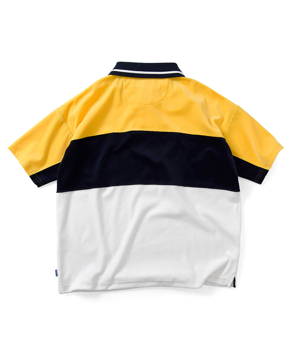 Lafayette TRADITIONAL SPORTS LOGO PILE POLO SHIRT LS200302 YELLOW