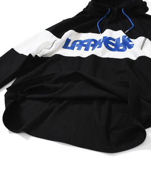 CLASSIC LOGO HOODED RUGBY JERSEY BLACK LA200301