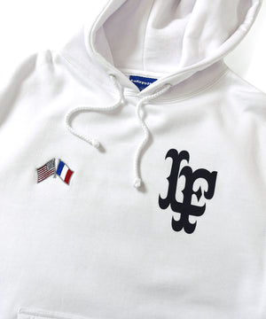Lafayette CROSS FLAG LF LOGO PULLOVER HOODIE LS200504 WHITE