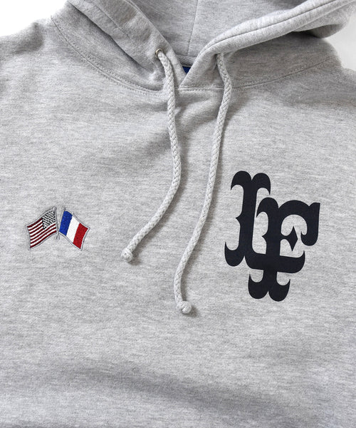 Lafayette CROSS FLAG LF LOGO PULLOVER HOODIE LS200504 HEATHER GRAY