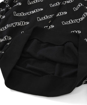 OUTLINE LOGO ALLOVER HOODED SWEATSHIRT BLACK LA200501