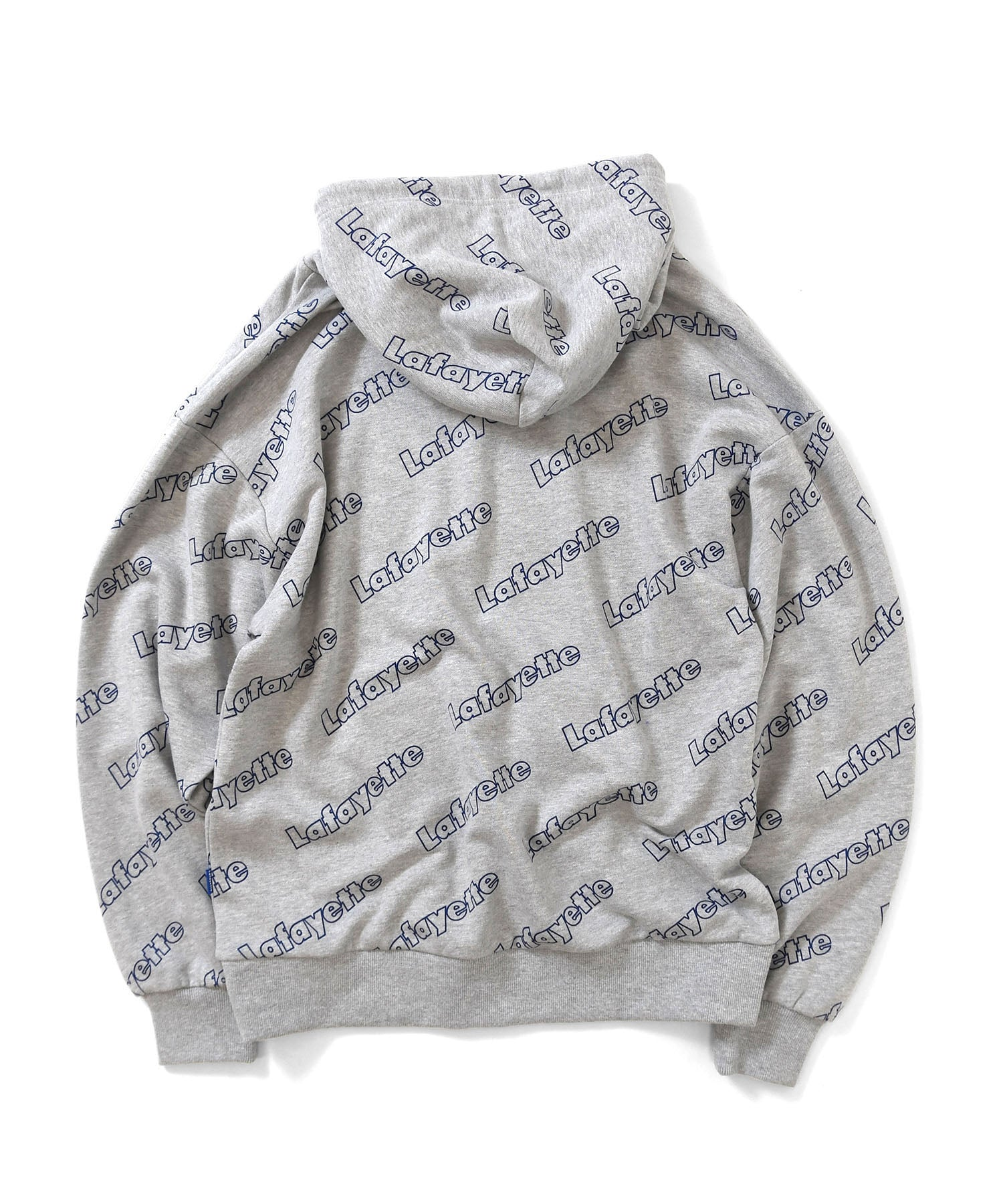OUTLINE LOGO ALLOVER HOODED SWEATSHIRT HEATHER GRAY LA200501