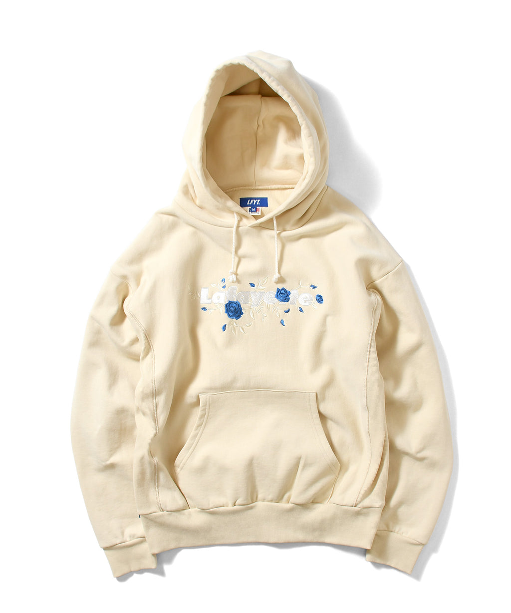 ROSE LOGO US COTTON HOODED SWEATSHIRT NATURAL LA200503