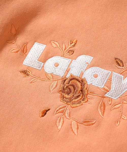 ROSE LOGO US COTTON HOODED SWEATSHIRT PEACH LA200503