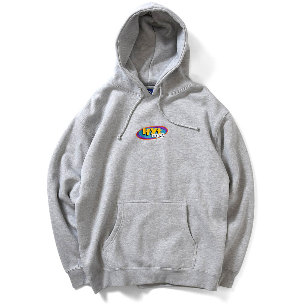 NY RADIO HOODED SWEATSHIRT HEATHER GRAY LA200508