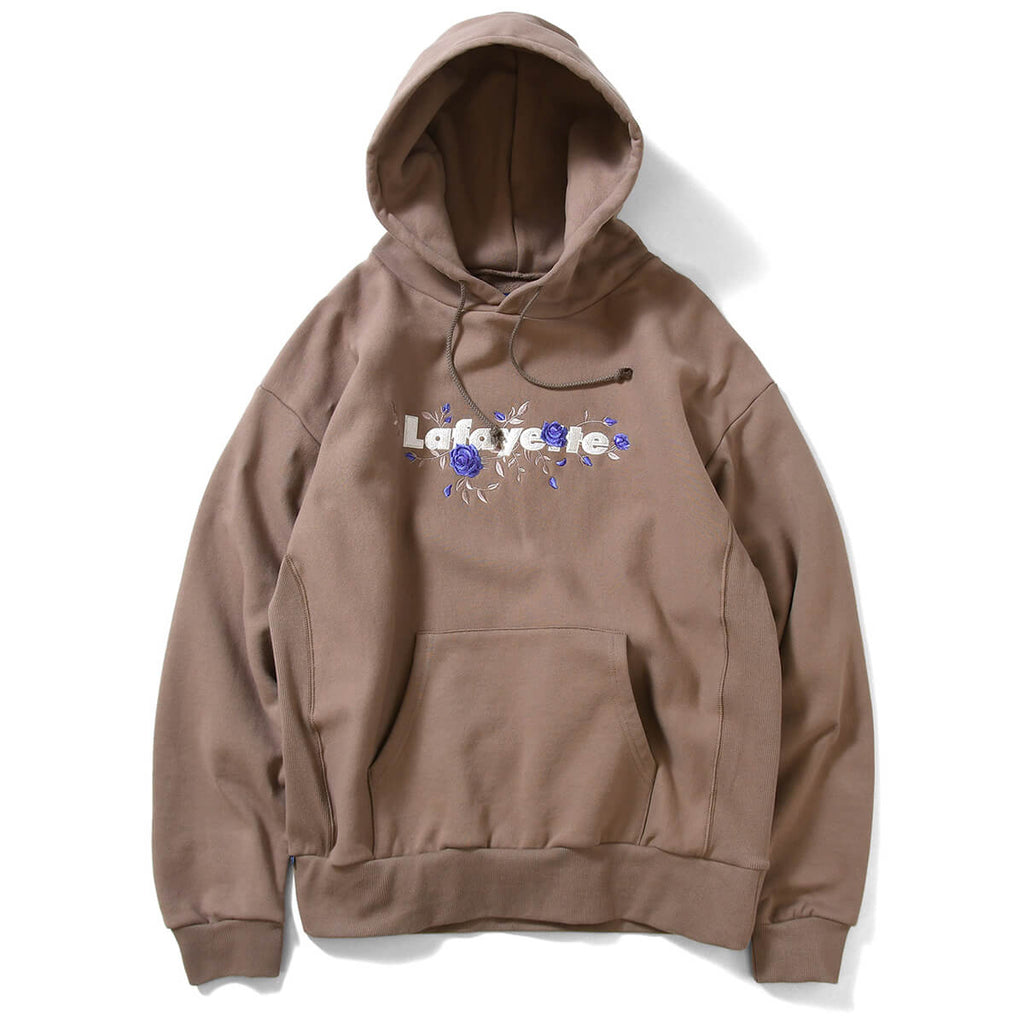 ROSE LOGO US COTTON HOODED SWEATSHIRT LE210501 SAND