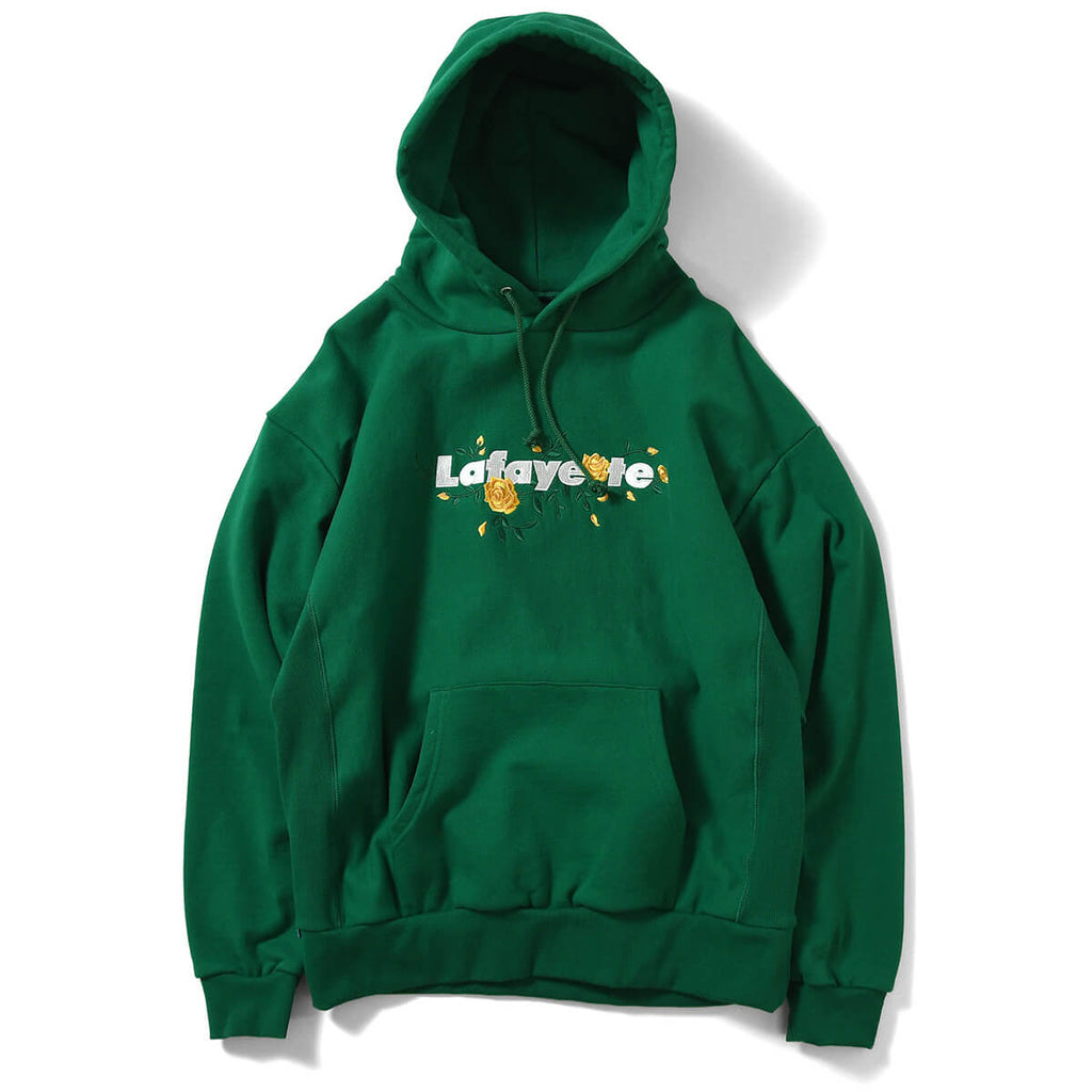 ROSE LOGO US COTTON HOODED SWEATSHIRT LE210501 GREEN